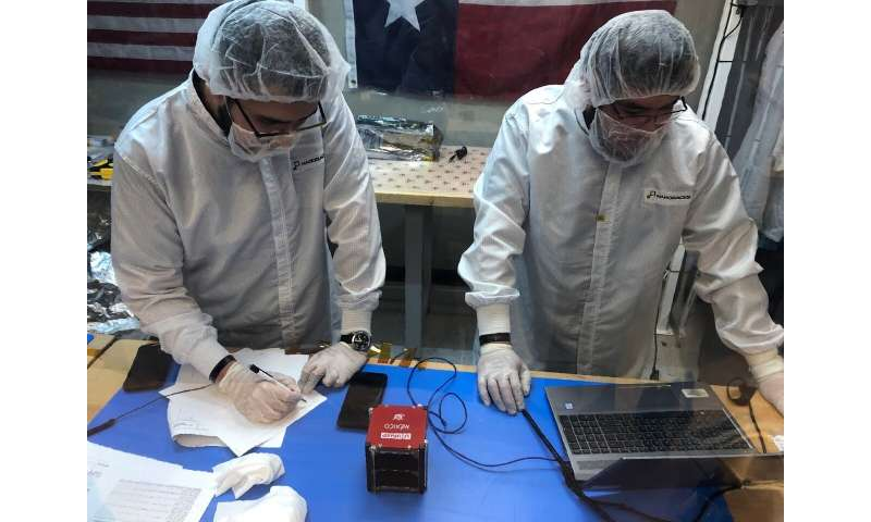 Mexican students launch a small satellite to the International Space Station