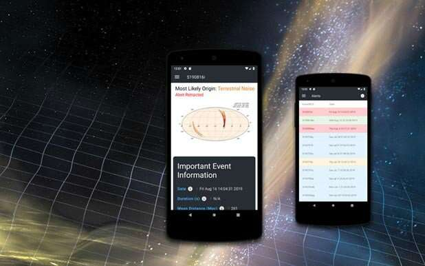 Mobile app to provide the latest on black hole collisions and merging neutron stars