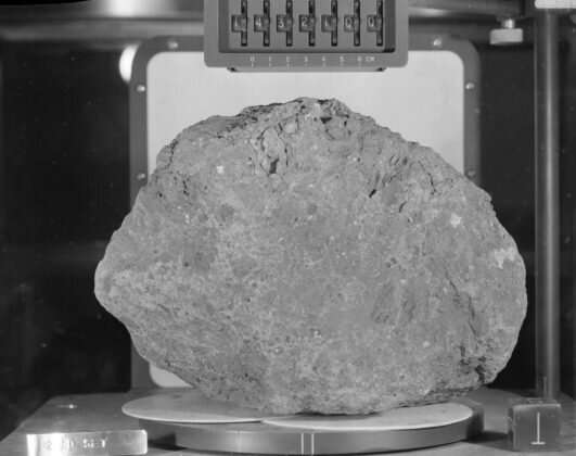 Moon rock recovered by astronauts likely originated on Earth