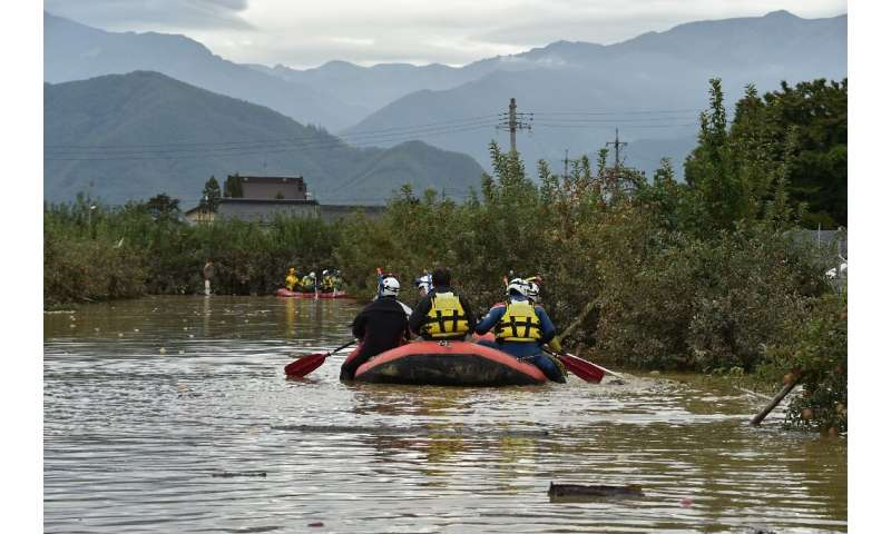 More than 110,000 rescue workers have been deployed across Japan to help people affected by Typhoon Hagibis