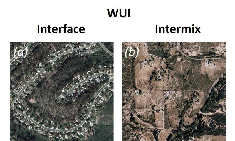 Most California wildfire is in wildland-urban interface area with less fuel, more people