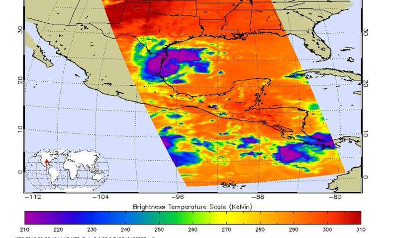 NASA analyzed Tropical Storm Fernand's strength before landfall