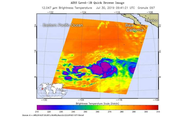 NASA casts a double eye on hurricane Flossie
