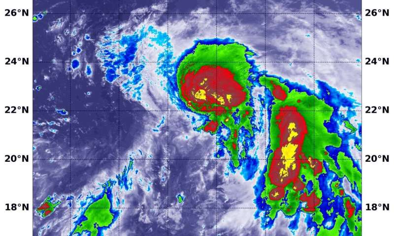 NASA catches birth of Northwestern Pacific's Tropical Storm Francisco