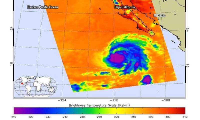 NASA catches Hurricane Juliette over Mexico's Socorro Island