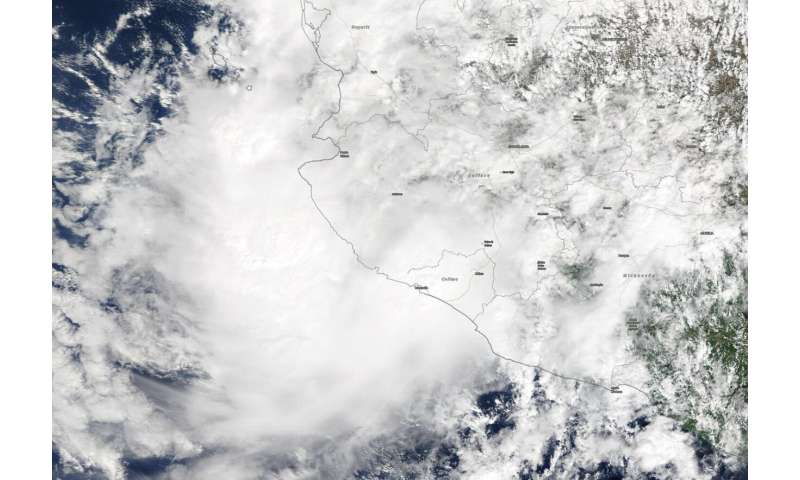 NASA catches short-lived Tropical Storm Priscilla's landfall in Mexico