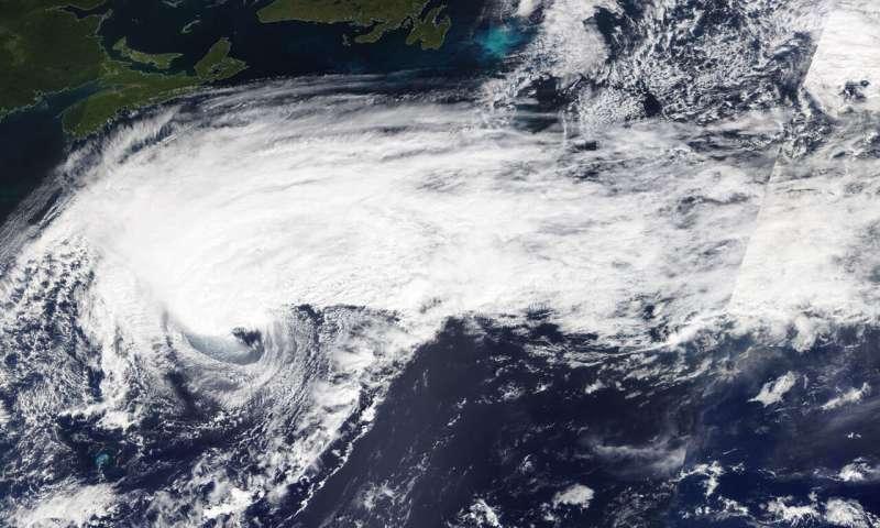 NASA data shows Humberto now post-tropical