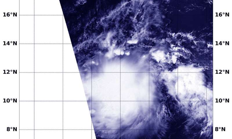 NASA finds Akoni already post-tropical