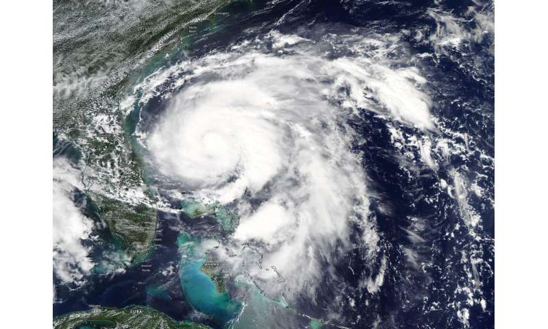 NASA finds Humberto strengthening off the Florida Coast