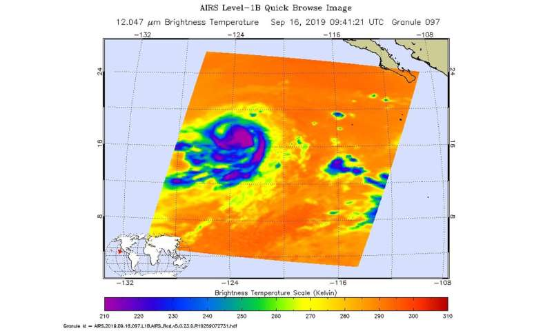 NASA finds Kiko weakening in the Eastern Pacific