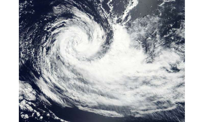 NASA finds Tropical Cyclone Gelena in the middle of the Southern Indian Ocean