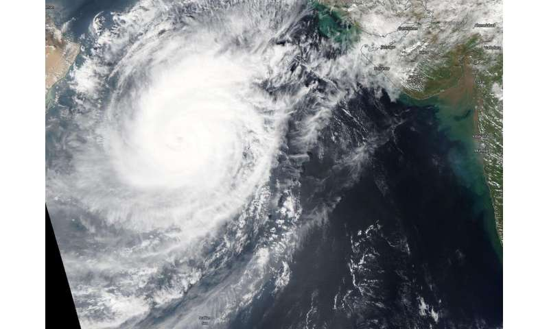 NASA find Tropical Cyclone Kyarr with a cloud-filled eye