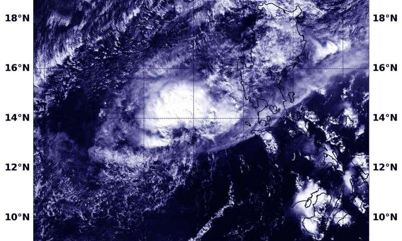 NASA imagery indicates a dissipating Kalmaegi