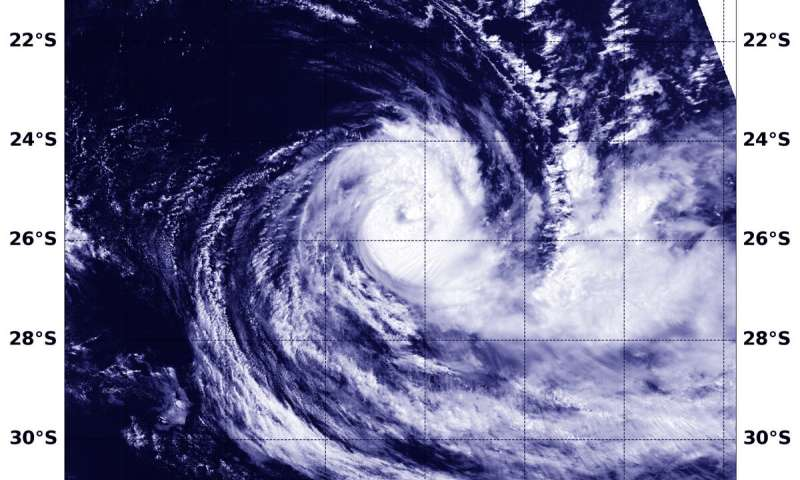 NASA-NOAA satellite finds Tropical Cyclone Gelena sheared