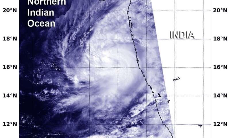NASA observes Tropical Storm Kyarr form near southwest India coast
