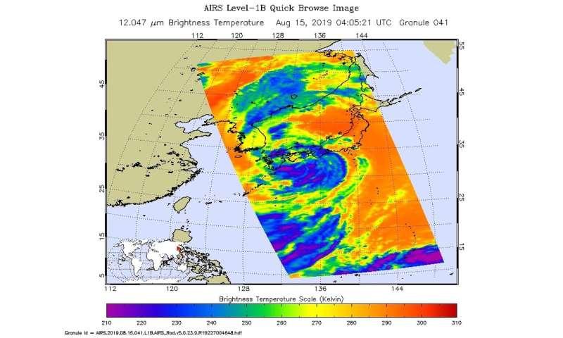NASA pinpointed tropical storm Krosa's strength before Japan landfall