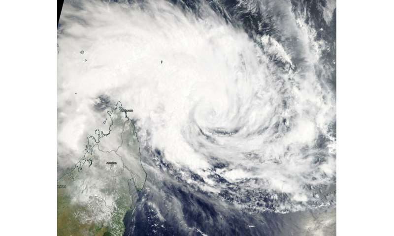 NASA satellite shows Tropical Cyclone Gelena near Madagascar