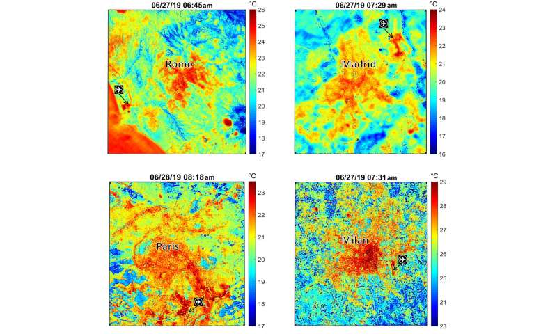 NASA's ECOSTRESS maps European heat wave from space