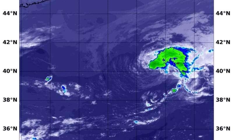 NASA sees a lopsided Atlantic Tropical Storm Chantal form