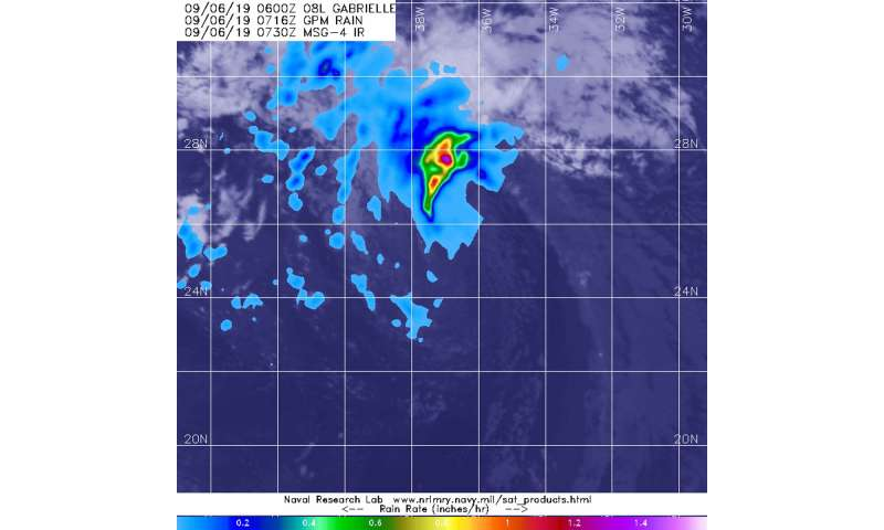 NASA sees gabrielle go 'post-tropical   ' for now