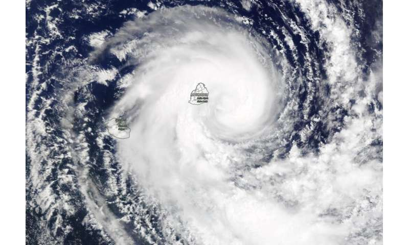 NASA sees Mauritius covered by Tropical Storm Calvinia