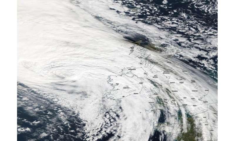 NASA sees Post-tropical Cyclone Lorenzo affecting Ireland