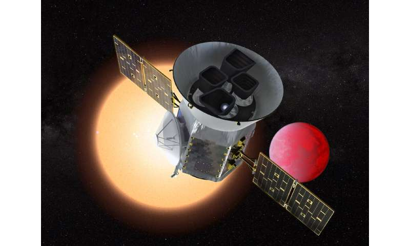 NASA's Transiting Exoplanet Survey Satellite (TESS)—the successor to the Kepler space telescope, seen in this artist's rendering