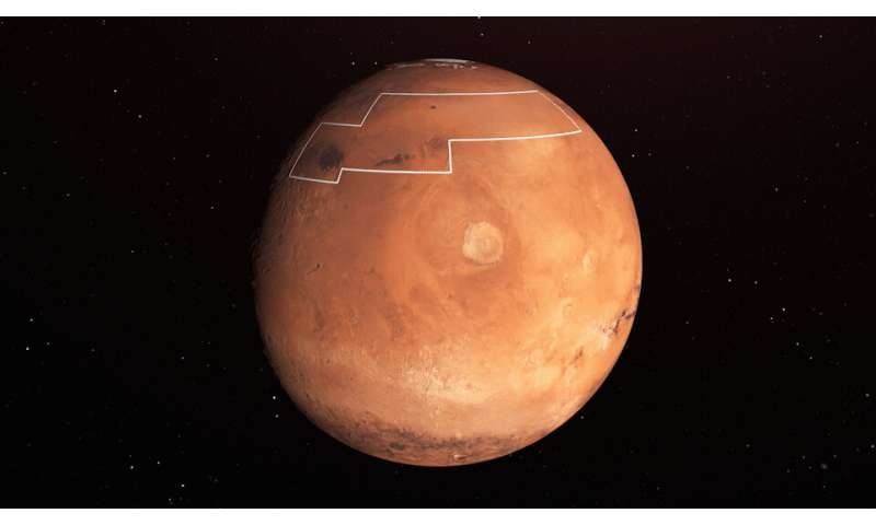 NASA's treasure map for water ice on Mars