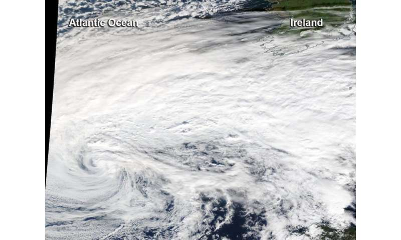 NASA tracking Eastern Atlantic's late season Tropical Storm Pablo