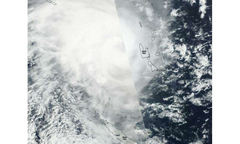 NASA tracks Tropical Cyclone Oma as warnings remain for Vanuatu