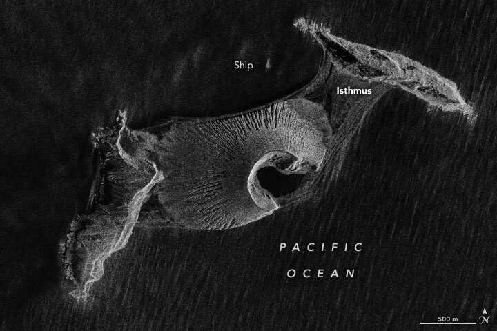 Newborn volcanic island in the Pacific has survived five years