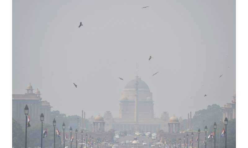 New Delhi is enveloped in a noxious blanket of smog every winter