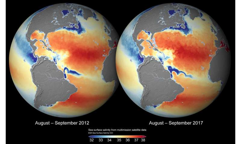 New maps of salinity reveal the impact of climate variability on oceans