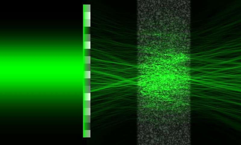 New shapes of laser beam 'sneak' through opaque media
