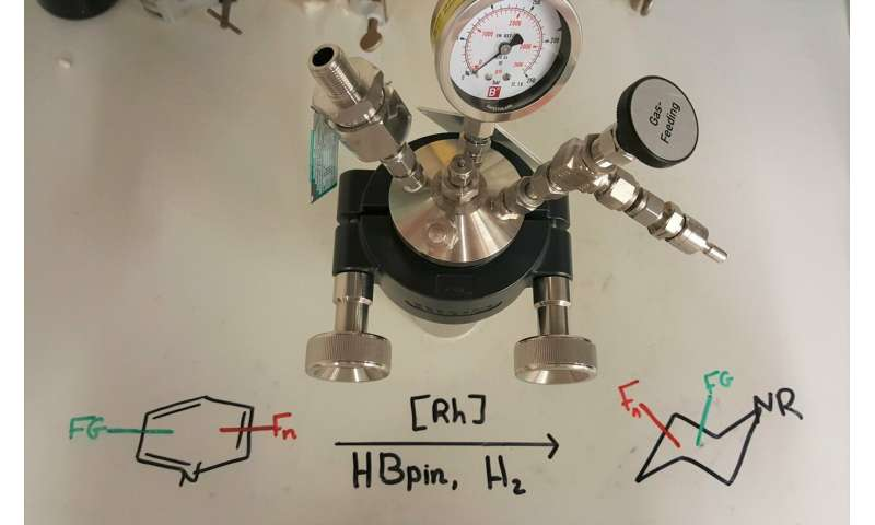 New synthesis method for producing fluorinated piperidines