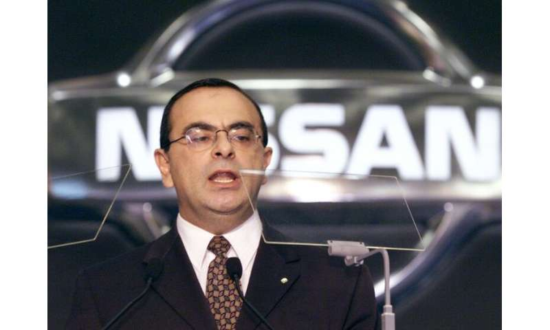 Nissan ex-chairman Carlos Ghosn in happier times