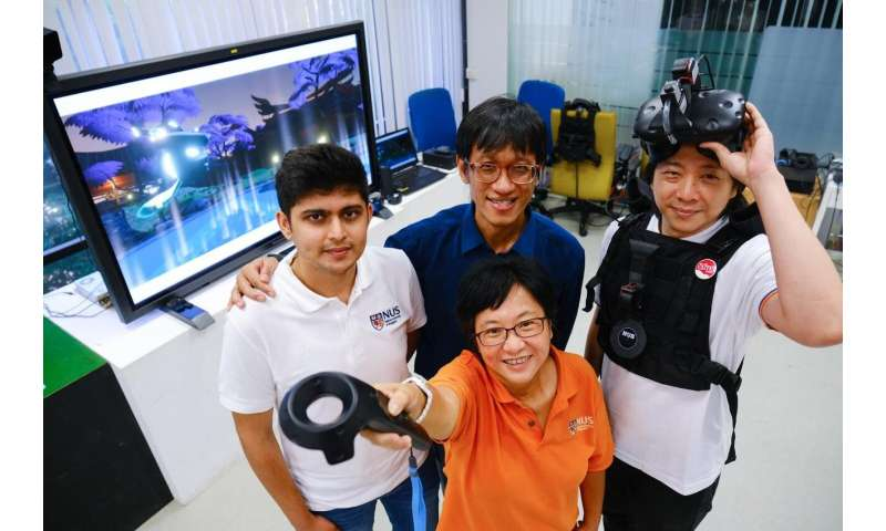 NUS team creates interactive, multisensory VR game