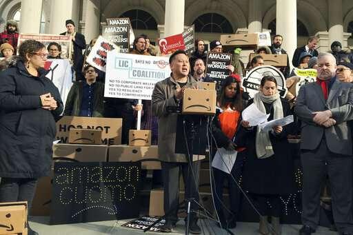 NY gov raps Amazon critics amid report company's rethinking
