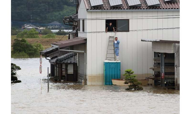 Omachi in Saga prefecture was one of the hardest-hit towns