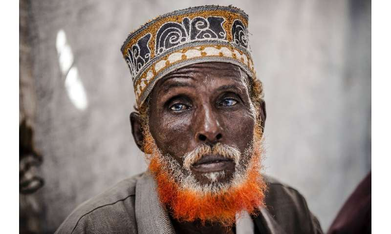 Omar Dule, 74, who lost his house in the floods, is among those who have taken shelter at a UN displacement camp in Beledweyne