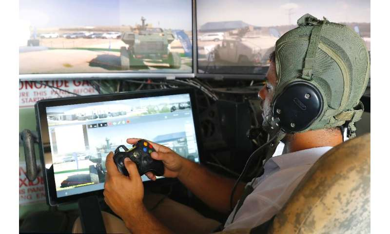 One of the tank systems, developed by Elbit Systems, is operated using a controller like that of a video game console