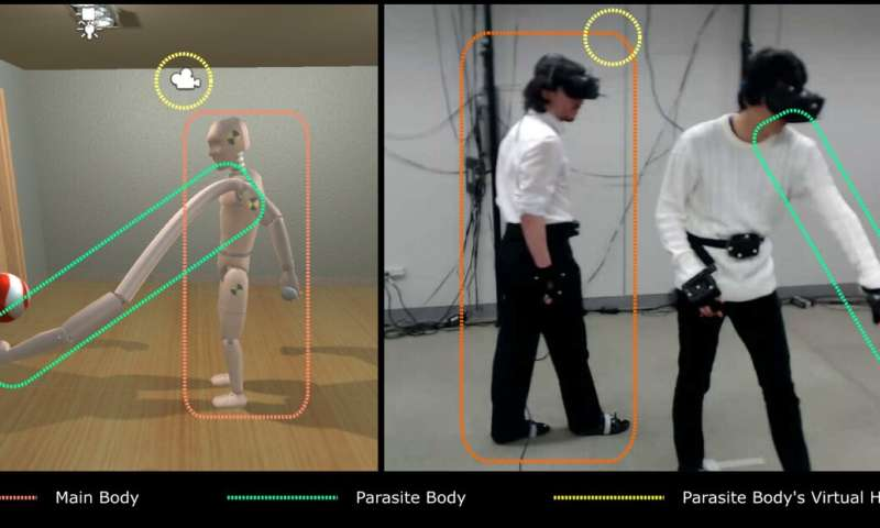 Parasitic Body: a VR system to study the collection of visual feedback from robotic arms