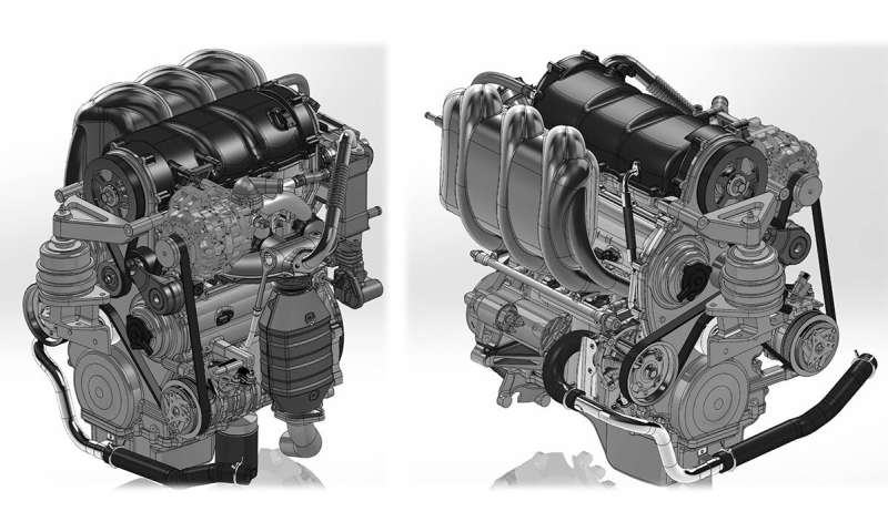 Production manufacturing knots and details of automobile gasoline engines spare parts