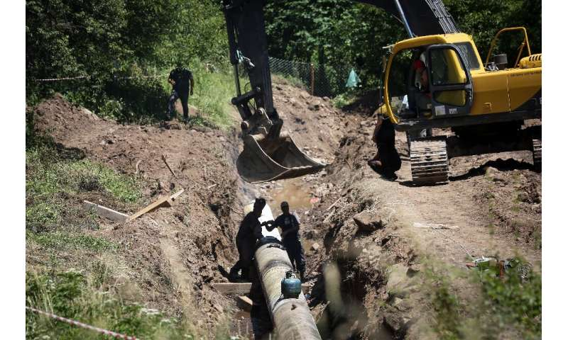 Pipes will divert up to 90 percent of the water from Rakita's river to an energy-generating turbine