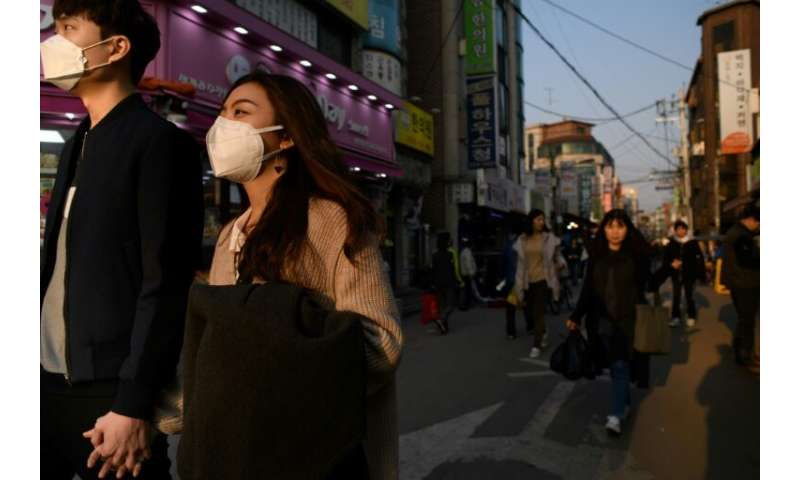 """Pollution levels in South  Korea sometimes spike as the prevailing winds blow PM2.5 particulates—referred to as """"fine dust&"""