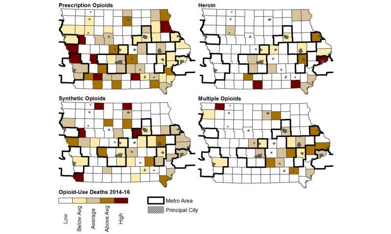 Prescription opioid overdose deaths falling in Iowa; synthetics and heroin spike new concern
