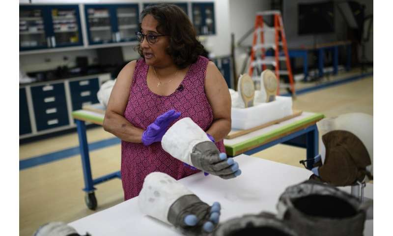 """Lunar dirt is much more aggressive than we had anticipated,"" said Cathleen Lewis, the museum's curator of space suits"