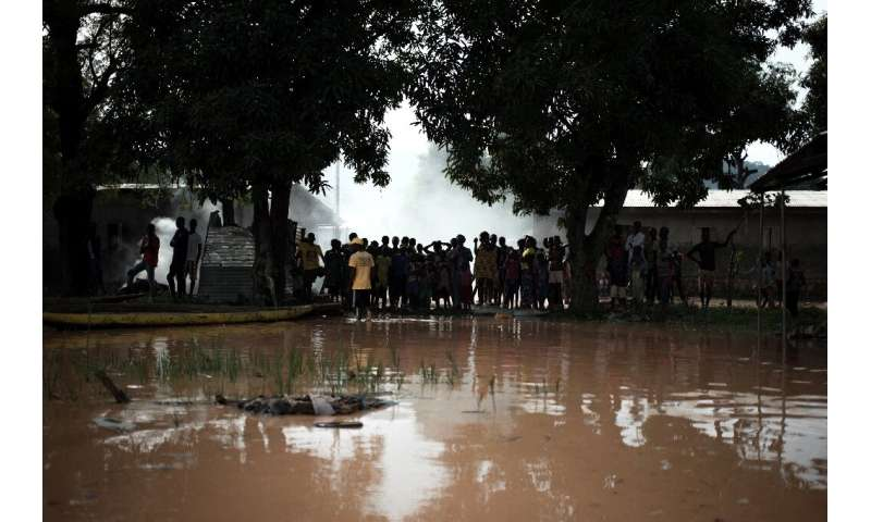 Rains have pounded the Central African Republic for several days, causing the Oubangui River and its tributaries to overflow