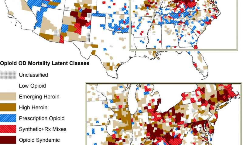 Regional trends in overdose deaths reveal multiple opioid epidemics, according to new study