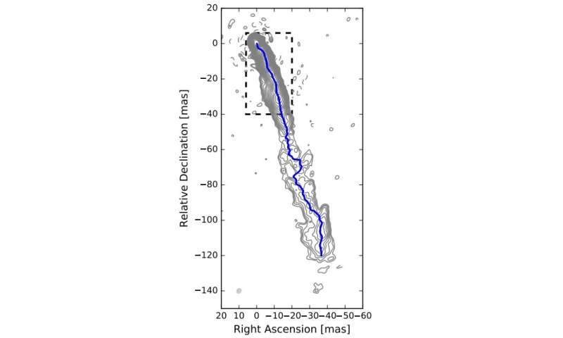 Relativistic jet of the blazar S5 0836+710 investigated in detail